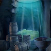 Blue Treasury Cave Escape